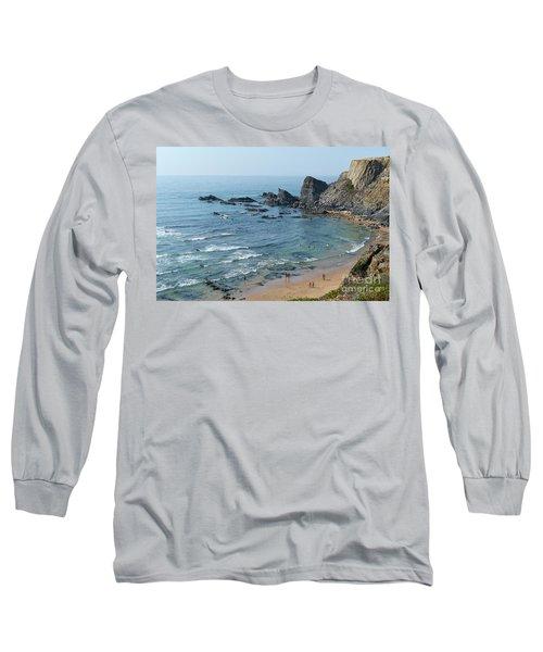 Amalia Beach From Cliffs Long Sleeve T-Shirt