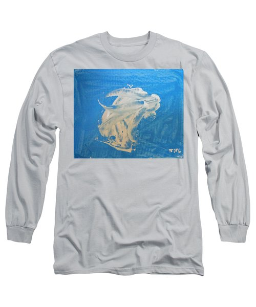 Angel And Dolphin Riding The Waves Long Sleeve T-Shirt