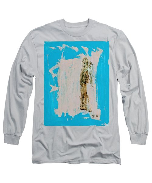 Angel With His Dog Wings Long Sleeve T-Shirt