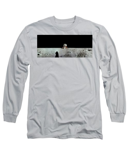 Apollo 11 Panorama Of The First Men Long Sleeve T-Shirt