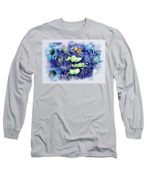 Aqua Blue Long Sleeve T-Shirt