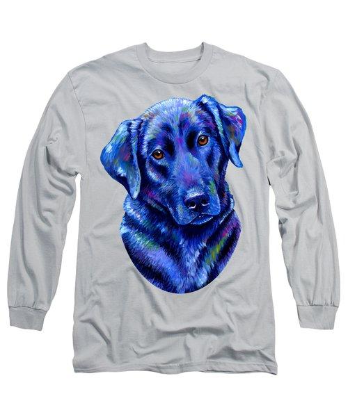 Colorful Black Labrador Retriever Dog Long Sleeve T-Shirt