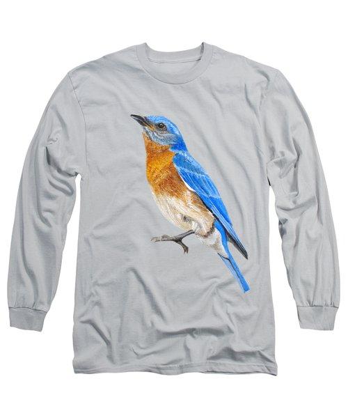 Cute Eastern Bluebird  Long Sleeve T-Shirt
