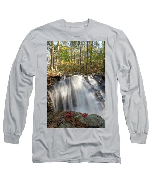 Long Sleeve T-Shirt featuring the photograph Autumn - Secret Waterfall 3 by Brian Hale