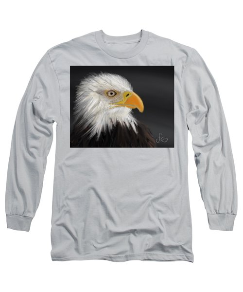 Long Sleeve T-Shirt featuring the pastel Bald Eagle by Fe Jones