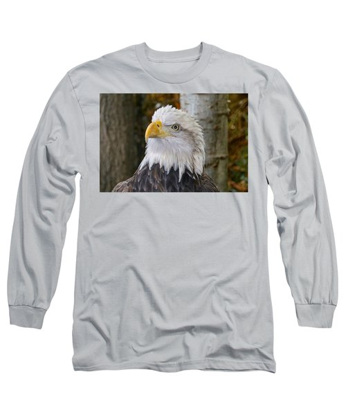 Bald Eagle Portrait Long Sleeve T-Shirt