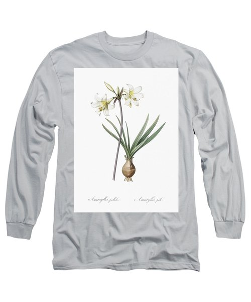 Belladonna Lily Illustration From Les Liliacees  1805  By Pierre Joseph Redoute  1759 1840  Long Sleeve T-Shirt