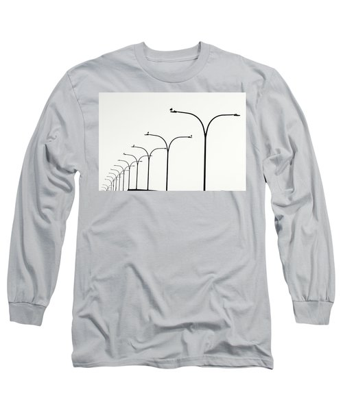 Birds Watch Over Queensway Bridge Long Sleeve T-Shirt