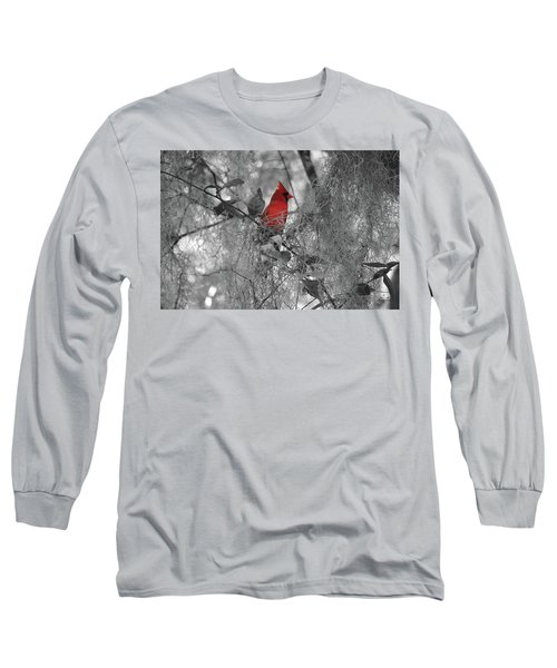 Black And White With A Splash Of Color Long Sleeve T-Shirt