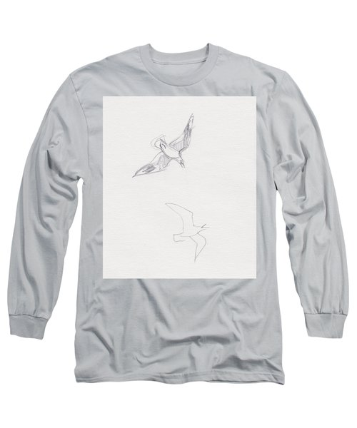 Black-billed Gulls Long Sleeve T-Shirt