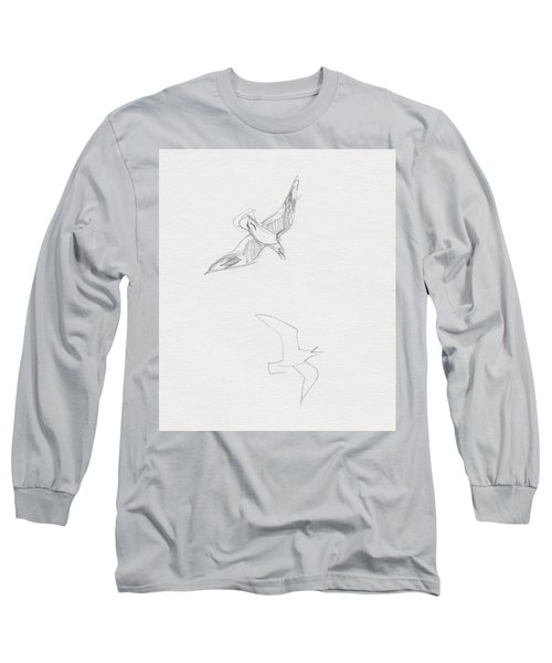 Black-billed Gulls Long Sleeve T-Shirt