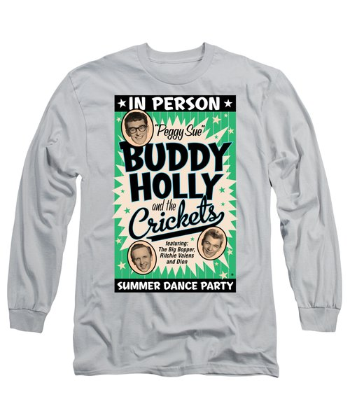Blue Buddy Holly Long Sleeve T-Shirt