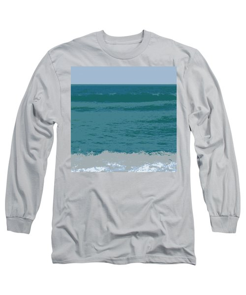 Blue Waters And Waves Long Sleeve T-Shirt