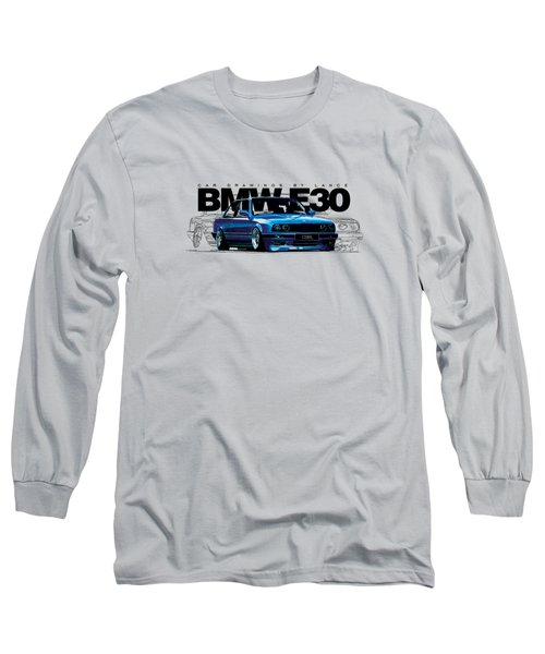 Bmw E30 T-shirt Design Long Sleeve T-Shirt