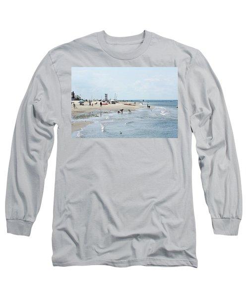 Breezy Point Lighthouse Summer Days Long Sleeve T-Shirt