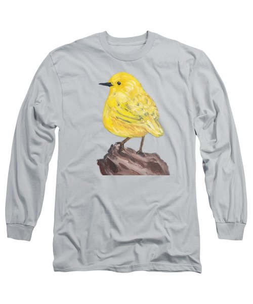 Long Sleeve T-Shirt featuring the painting Bright Spot #3 by Maria Langgle