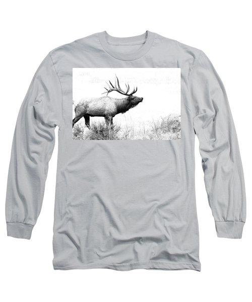 Bull Elk In Rut Long Sleeve T-Shirt