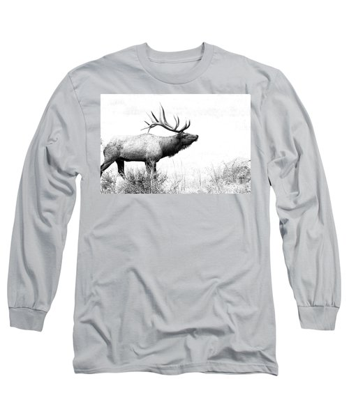Bull Elk In Rut Long Sleeve T-Shirt