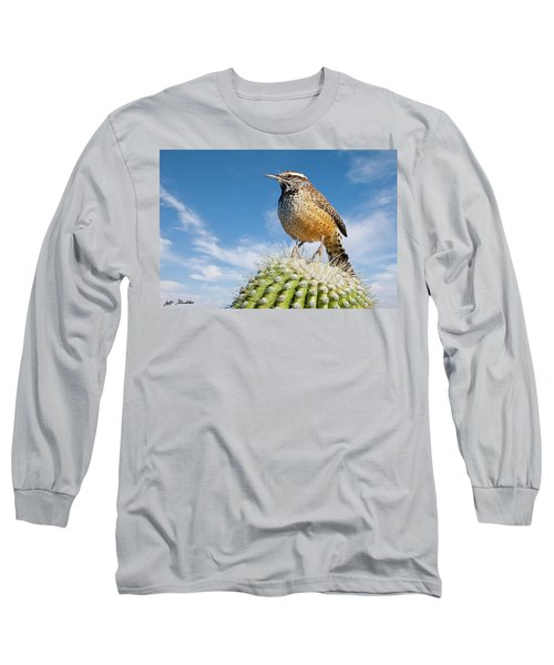 Cactus Wren On A Saguaro Cactus Long Sleeve T-Shirt
