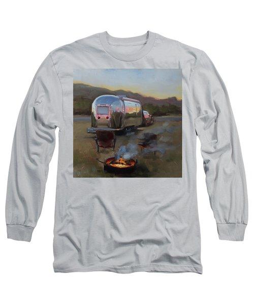 Campfire At Palo Duro Long Sleeve T-Shirt