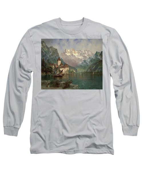 Castle Of Chillon, Lake Geneva Long Sleeve T-Shirt