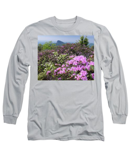Catawba Rhododendron Table Rock  Long Sleeve T-Shirt