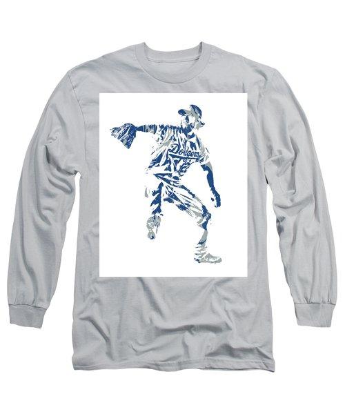 Clayton Kershaw Los Angeles Dodgers Pixel Art  100 Long Sleeve T-Shirt