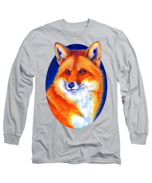 Colorful Red Fox Long Sleeve T-Shirt