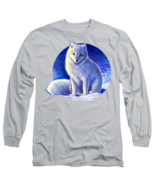 Colorful Winter Arctic Fox Long Sleeve T-Shirt