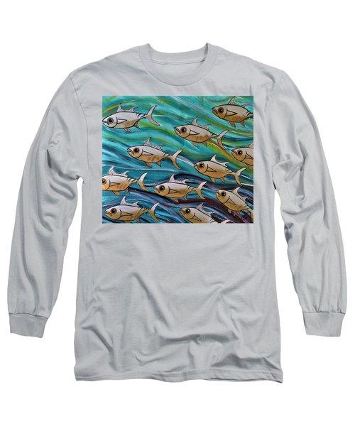 Coloured Water Fish Long Sleeve T-Shirt