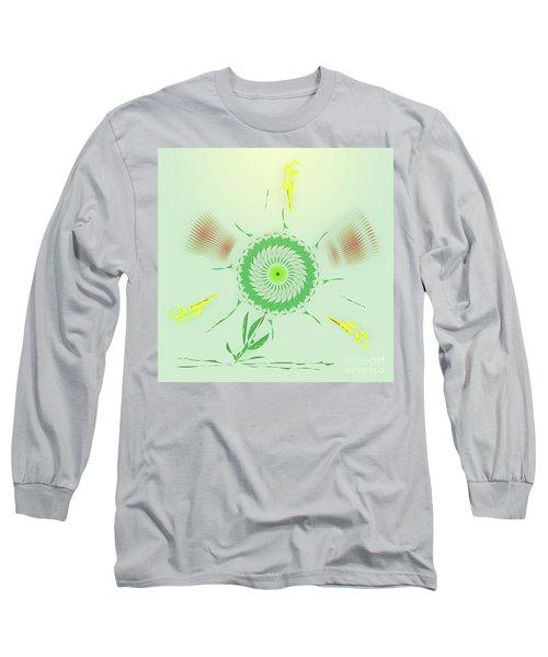 Crazy Spinning Flower Long Sleeve T-Shirt