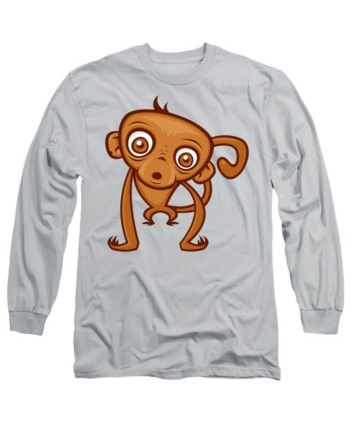 Cute Monkey Long Sleeve T-Shirt