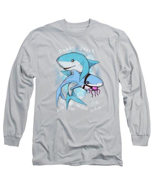 Daddy Shark Long Sleeve T-Shirt