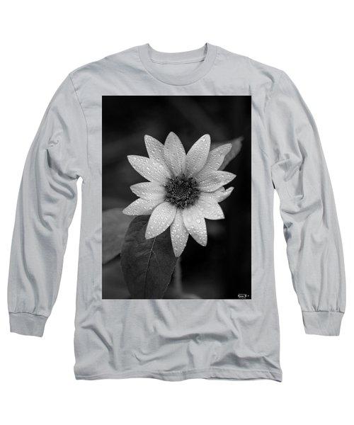 Dewdrops On A Sunflower Long Sleeve T-Shirt