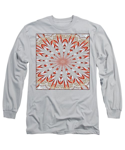 Digitalized Cardinal Long Sleeve T-Shirt