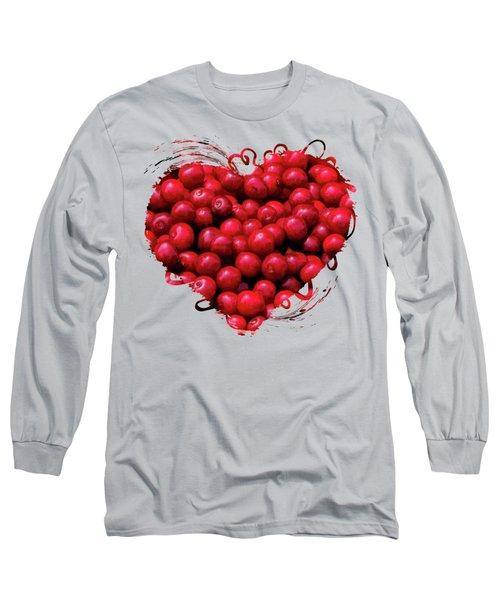 Door County Buckets Of Cherries Long Sleeve T-Shirt