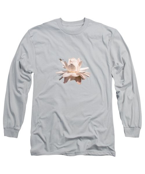 Dragonfly On Giant Victoria Cruziana Long Sleeve T-Shirt