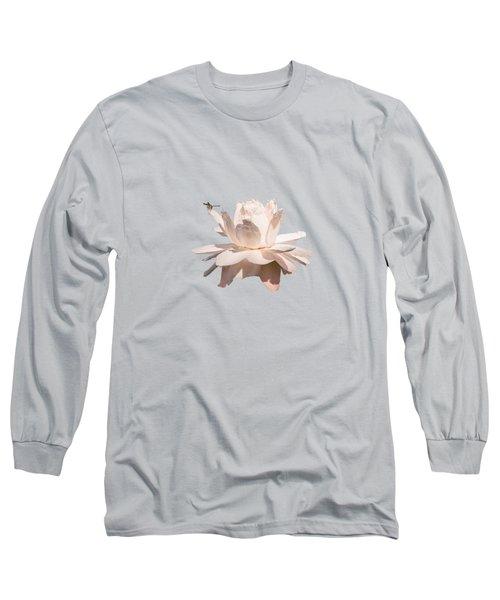 Dragonfly On Giant Victoria Cruziana Long Sleeve T-Shirt