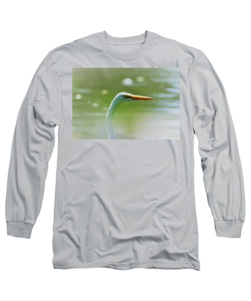 Dreamy Great White Egret Long Sleeve T-Shirt