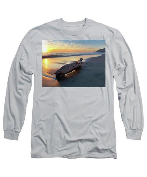 Drift Wood At Sunset II Long Sleeve T-Shirt