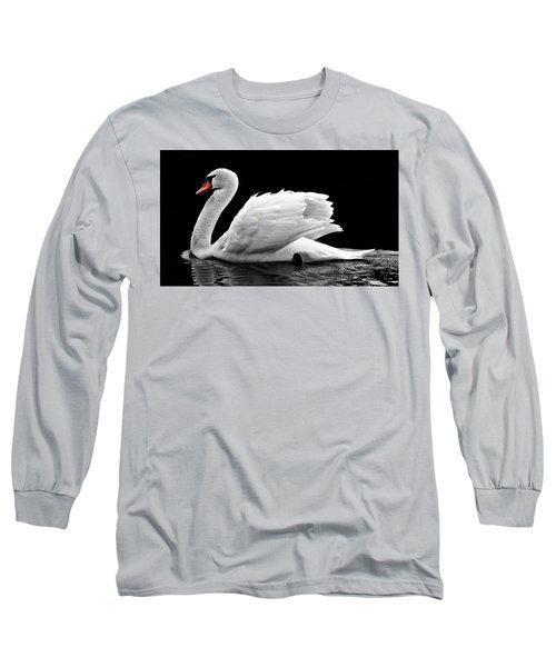 Elegant Swan Long Sleeve T-Shirt
