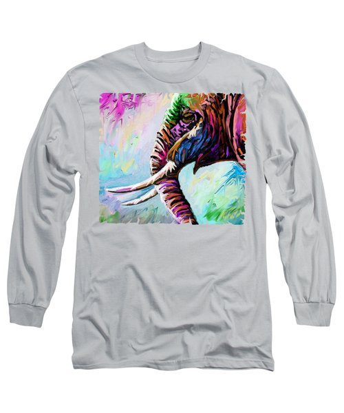 Elephant Profile Long Sleeve T-Shirt
