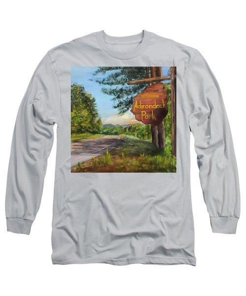 Entering The Adirondack Park Long Sleeve T-Shirt