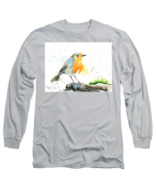European Robin Long Sleeve T-Shirt