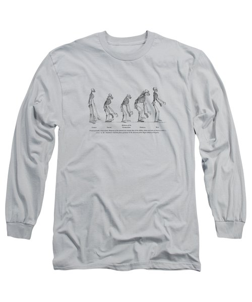 Evidence As To Man's Place In Nature - T. H. Huxley 1863 Long Sleeve T-Shirt