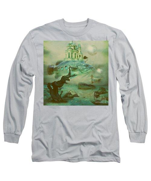 Long Sleeve T-Shirt featuring the digital art Finding Captain Nemo by Alexa Szlavics