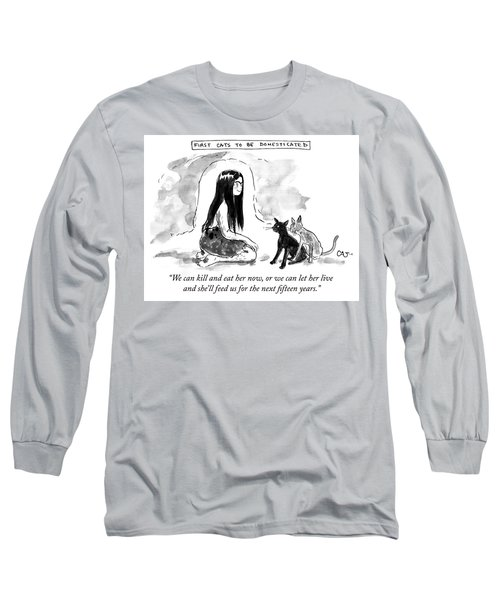 First Cats To Be Domesticated Long Sleeve T-Shirt