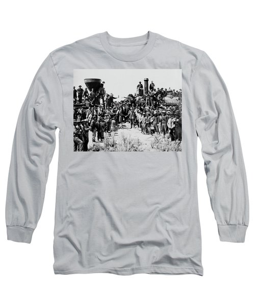 First Opening Of The Transcontinental Railroad - 1869 Long Sleeve T-Shirt