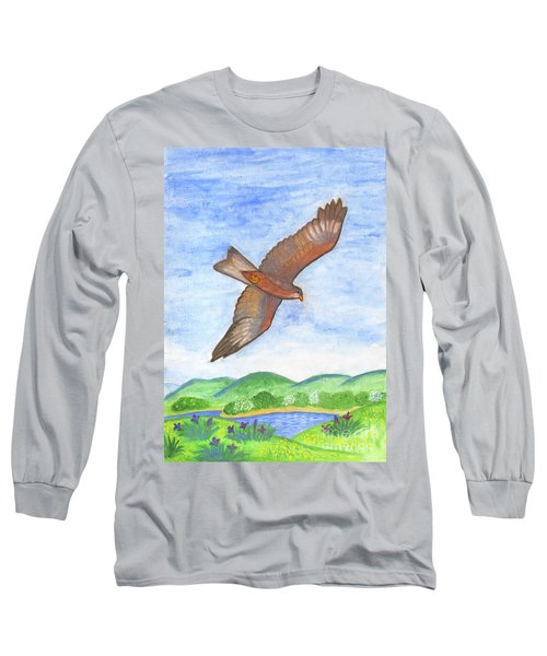 Flying Hawk Long Sleeve T-Shirt