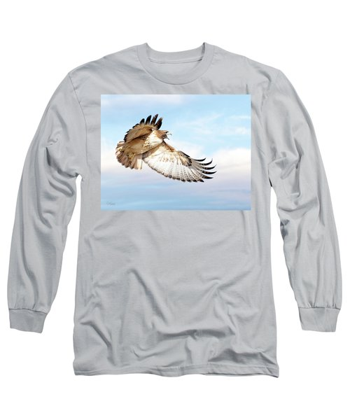 Flying Red-tailed Hawk Long Sleeve T-Shirt